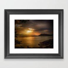 Sunset at Lismore Island Framed Art Print