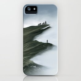 Foggy Landscape Digital Painting iPhone Case