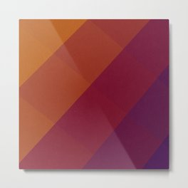 Square Abstract Gradient Art Metal Print