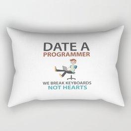 Date A Programmer Rectangular Pillow