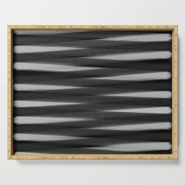 Black and White High Contrast Pattern Serving Tray