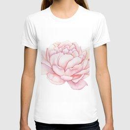Pink Peony Watercolor T-shirt
