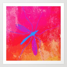 blue insect Art Print