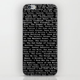 Banned Literature Internationally Print on Black iPhone Skin