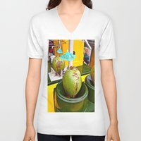 coconut wishes V-neck T-shirts featuring Coconut Dream by Savanna Mulvaney
