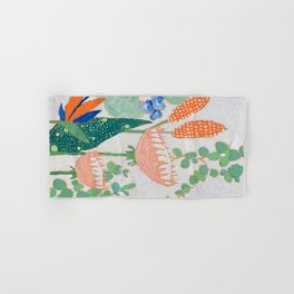 Proteas and Birds of Paradise Painting Hand & Bath Towel
