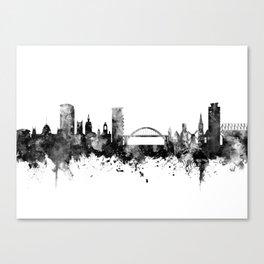 Sunderland England Skyline Canvas Print