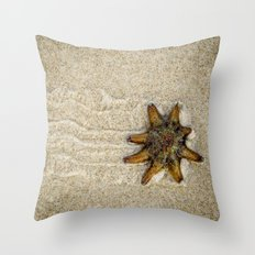 Starfish on the Move Throw Pillow