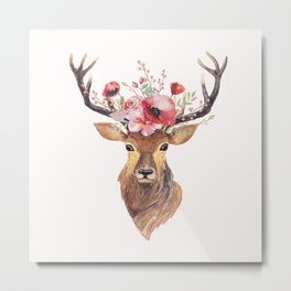 Bohemian Deer Metal Print