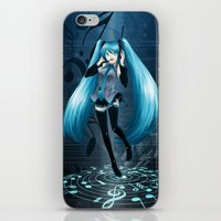 vocaloid iPhone & iPod Skins featuring Vocaloid Hatsune Miku by RAVEFIRELL