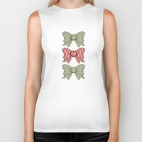bows Biker Tanks featuring Red and Blue Bows   by Ambers Illustration