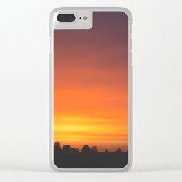 SUNRISE - SUNSET - ORANGE SKY - PHOTOGRAPHY Clear iPhone Case