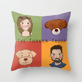 Em's bday gift Throw Pillow