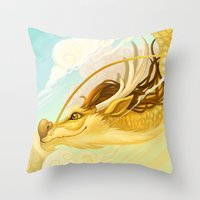 asian Throw Pillows featuring Asian Dragon by Sunset Dragon