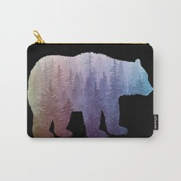 Misty Forest Bear - colorful rainbow Carry-All Pouch