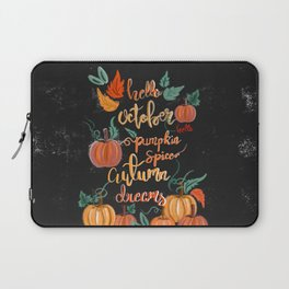 Hello October Laptop Sleeve