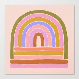 rainbow : of the heart Canvas Print