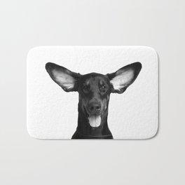 DOG - DOBERMAN BLACK & WHITE Bath Mat