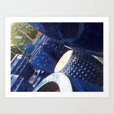 Blue Stack Art Print