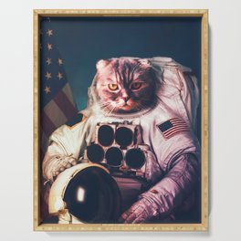 Funny Cat Astronaut #2 Serving Tray