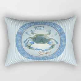 Retro Vintage Advertising Inspired Seafood Ad for Blue Crabs Rectangular Pillow