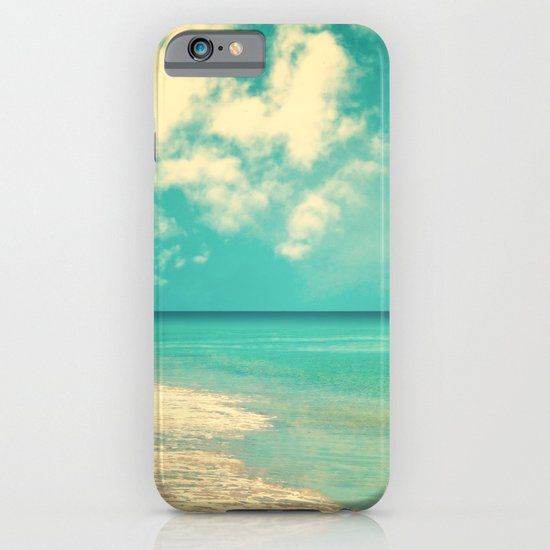 Retro beach and turquoise sky (square) iPhone & iPod Case