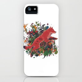 dream of red wolf iPhone Case