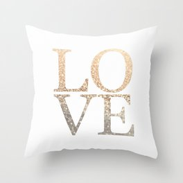 GOLD LOVE Throw Pillow