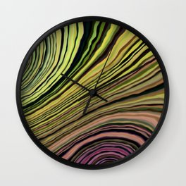 Mineralicious~Colors of Quartz Wall Clock