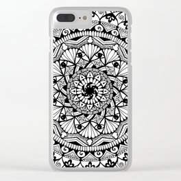 Black & White - I See You - Mandala Clear iPhone Case