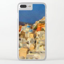 Summer in the Med Clear iPhone Case