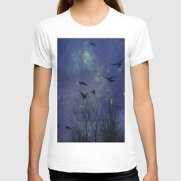 Celestial Night Of Crows T-shirt