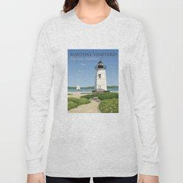 Martha's Vineyard Edgartown Lighthouse Long Sleeve T-shirt