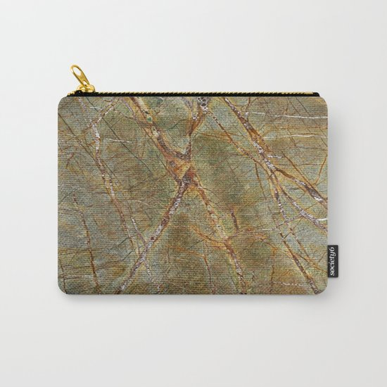Forest Green Marble Carry-All Pouch
