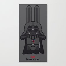 señor trolo / darth vader gray Canvas Print