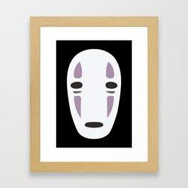Kaonashi (No-Face) - Spirited Away Framed Art Print