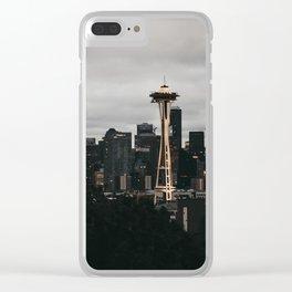 Seattle Skyline Clear iPhone Case