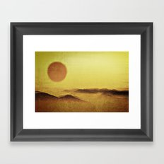 When the Sun is Going Down Framed Art Print