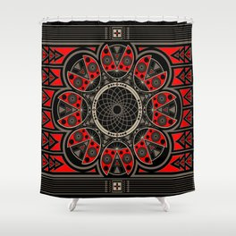 Make A Wish Ladybug Shower Curtain
