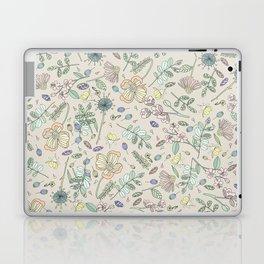 Country Flowers - Tan Laptop & iPad Skin