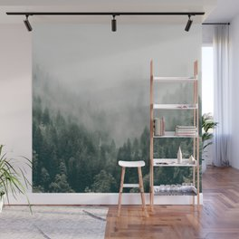 Foggy Forest 3 Wall Mural