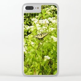 Floral Print 045 Clear iPhone Case