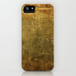 United States Declaration of Independence iPhone Case