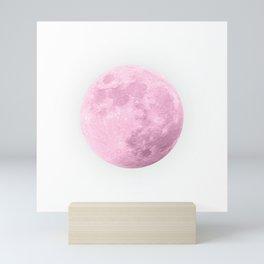 COTTON CANDY PINK MOON Mini Art Print