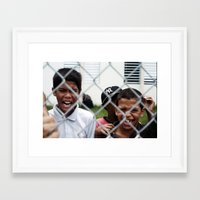 puerto rico Framed Art Prints featuring kids from Puerto Rico  by xalomako