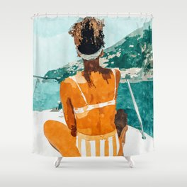 Solo Traveler Shower Curtain