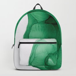 Kelly Green ink Abstract Backpack