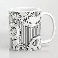 arya stark Mugs featuring Stark Gears by Samantha Lynn