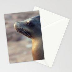 sea lion profile Stationery Cards
