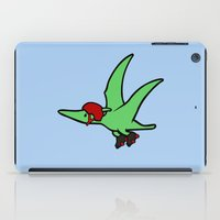 roller derby iPad Cases featuring Roller Derby Pterodactyl by Jez Kemp